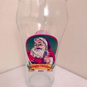 Coca Cola Christmas Santa Glass ca 2001